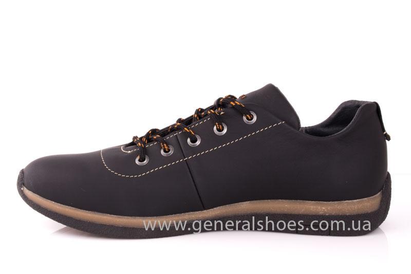 Мужские кожаные кроссовки GS L118 blk фото 5