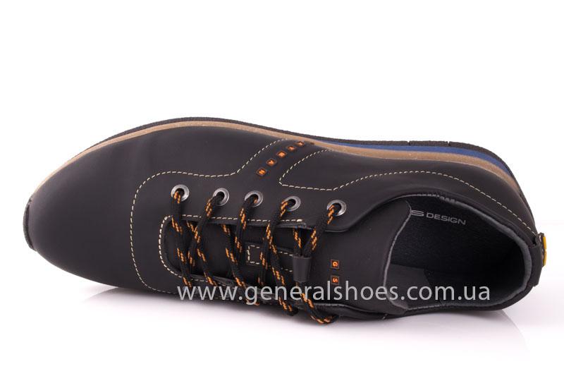 Мужские кожаные кроссовки GS L118 blk фото 6
