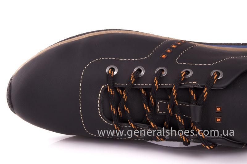 Мужские кожаные кроссовки GS L118 blk фото 7