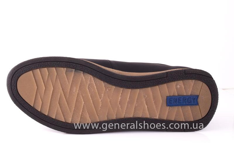 Мужские кожаные кроссовки GS L118 blk фото 8