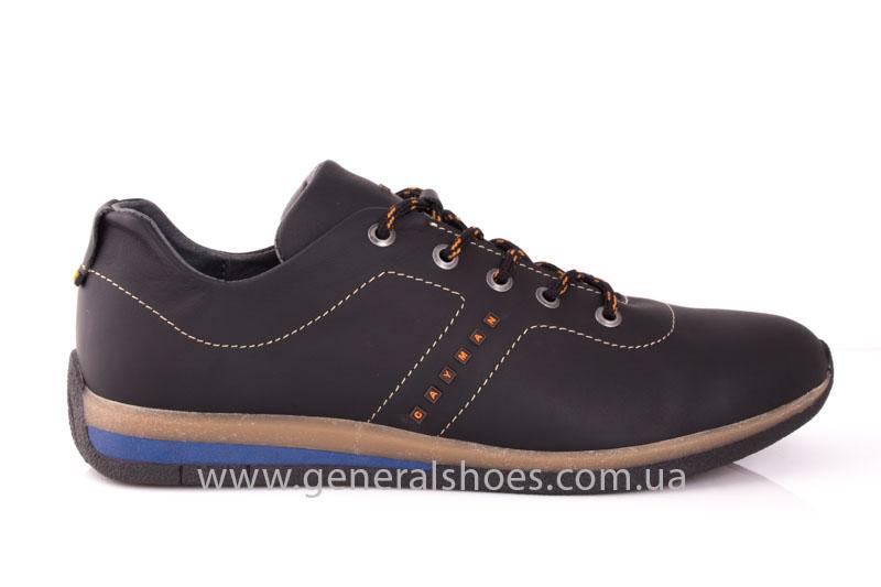Мужские кожаные кроссовки GS L118 blk фото 2