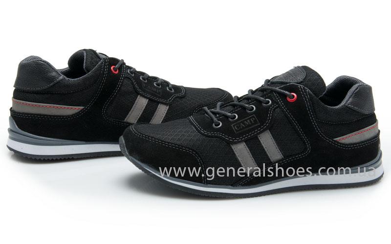 Мужские кроссовки замша Camp 10924 черный фото 2