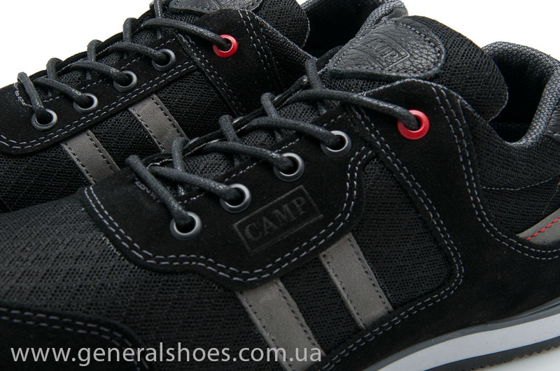 Мужские кроссовки замша Camp 10924 черный фото 5