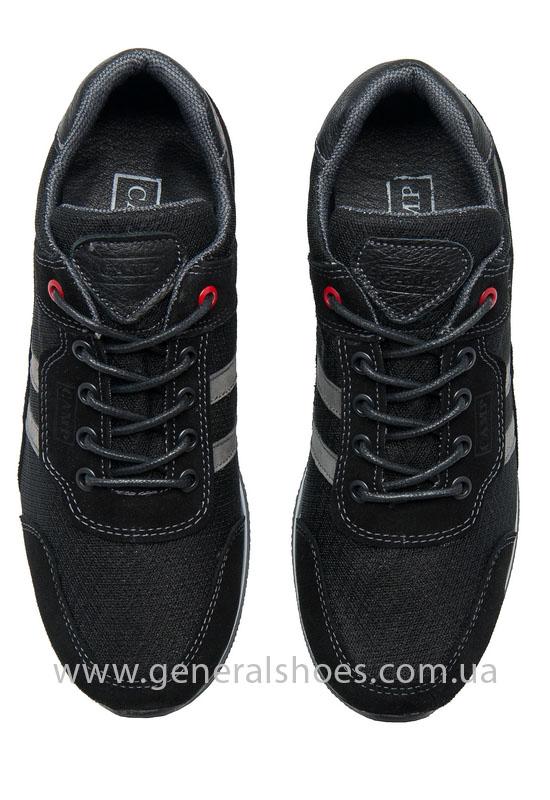 Мужские кроссовки замша Camp 10924 черный фото 6