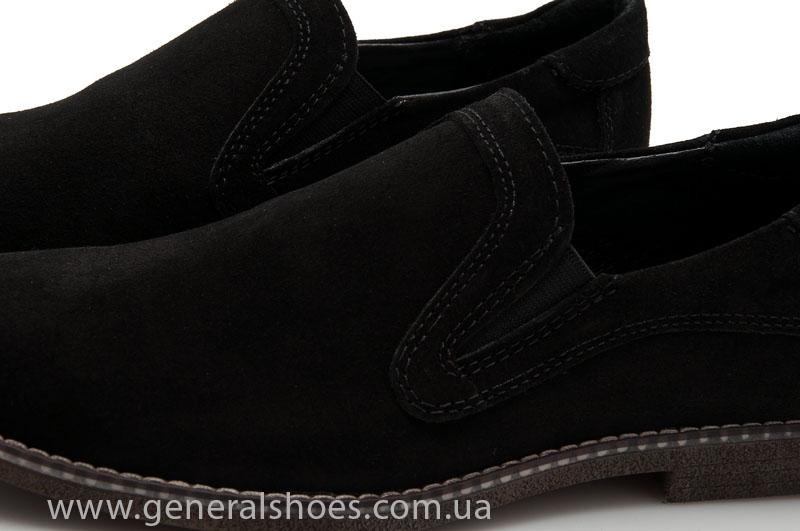Мужские туфли замшевые Camp 10876 черный фото 6