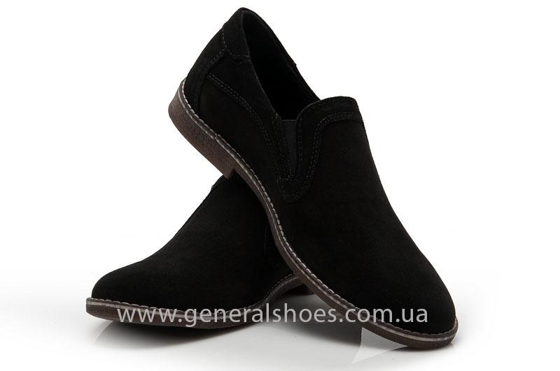 Мужские туфли замшевые Camp 10876 черный фото 5