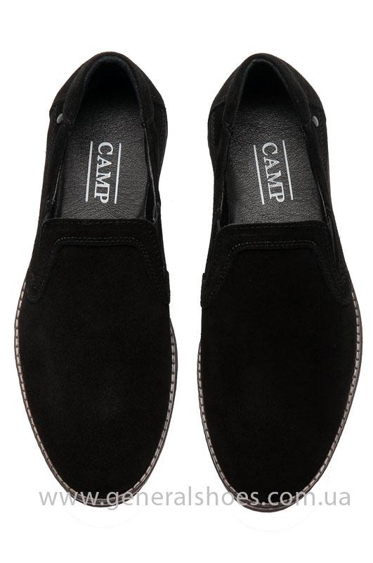 Мужские туфли замшевые Camp 10876 черный фото 4