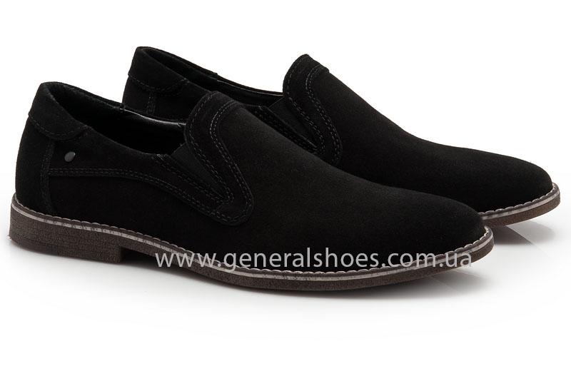 Мужские туфли замшевые Camp 10876 черный фото 1