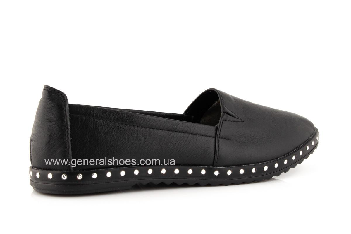 Балетки женские кожаные 0112 черный фото 3