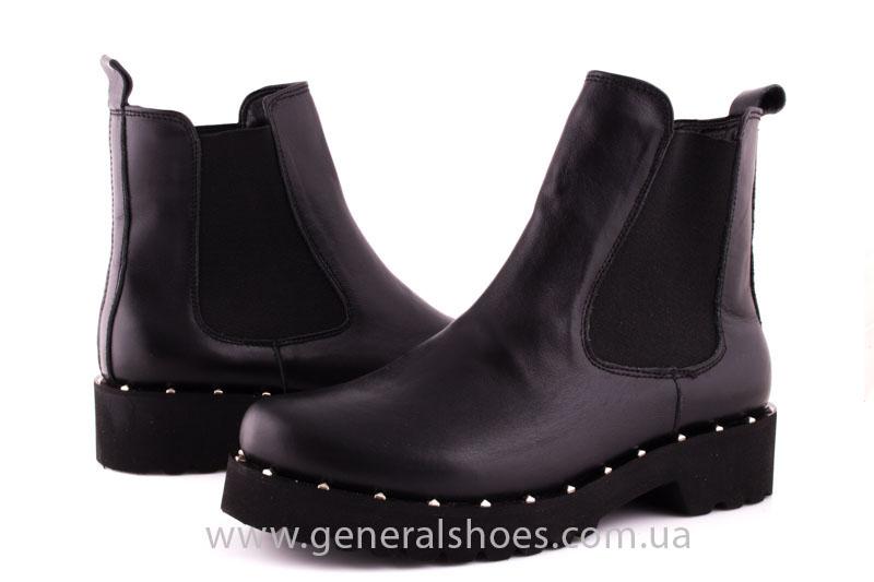 Ботинки женские кожаные 1515 черный фото 8