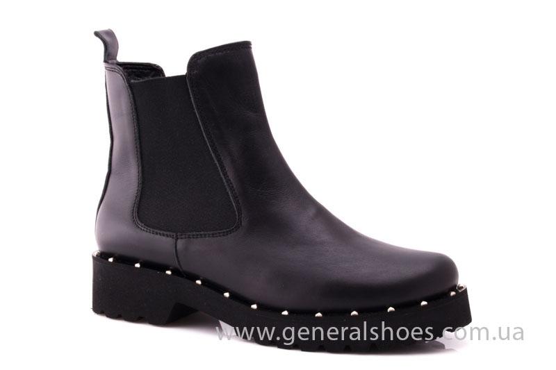 Ботинки женские кожаные 1515 черный фото 1