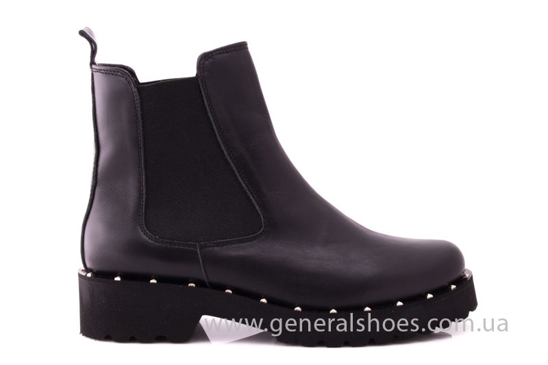 Ботинки женские кожаные 1515 черный фото 2
