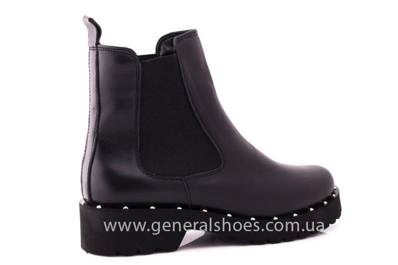 Ботинки женские кожаные 1515 черный фото 3