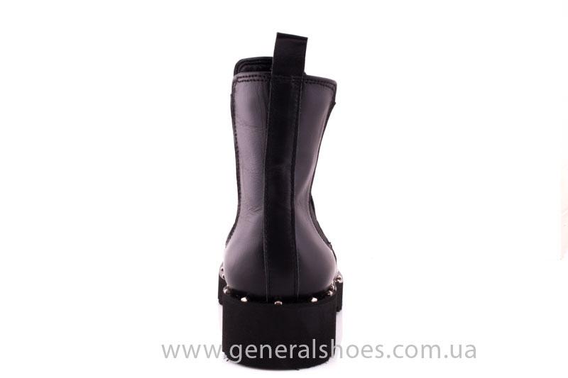 Ботинки женские кожаные 1515 черный фото 4