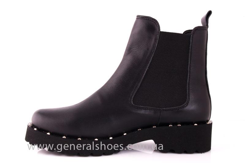 Ботинки женские кожаные 1515 черный фото 5