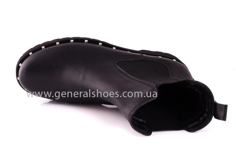 Ботинки женские кожаные 1515 черный фото 6