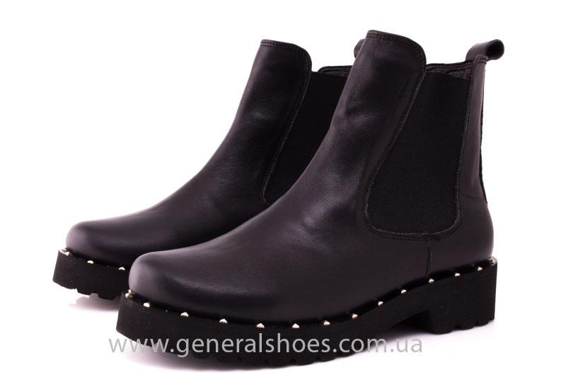 Ботинки женские кожаные 1515 черный фото 7