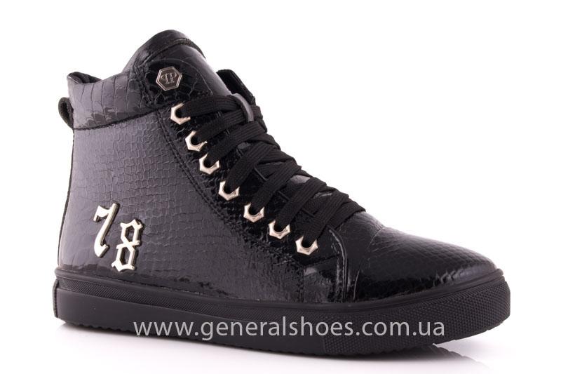 Ботинки женские кожаные GL 8 черный фото 1