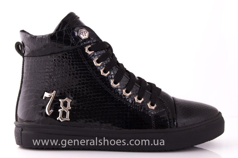 Ботинки женские кожаные GL 8 черный фото 2