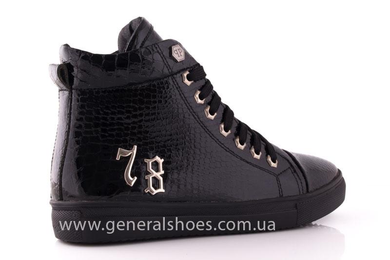 Ботинки женские кожаные GL 8 черный фото 3