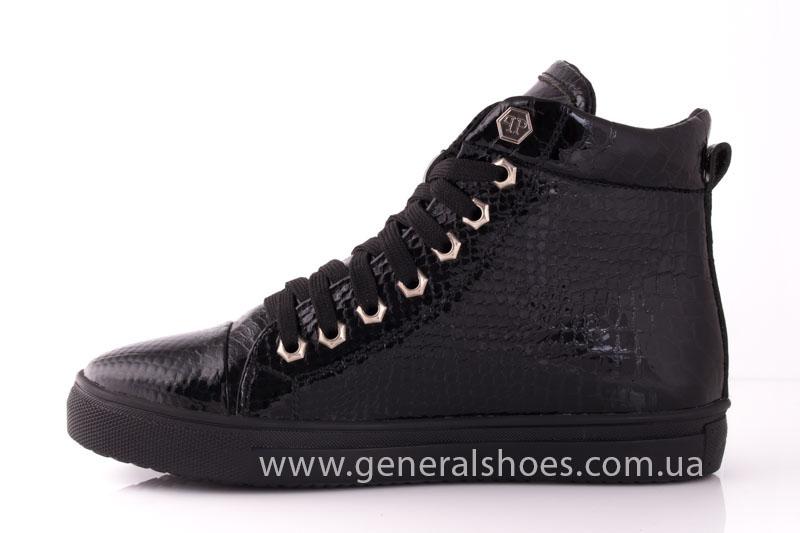 Ботинки женские кожаные GL 8 черный фото 5
