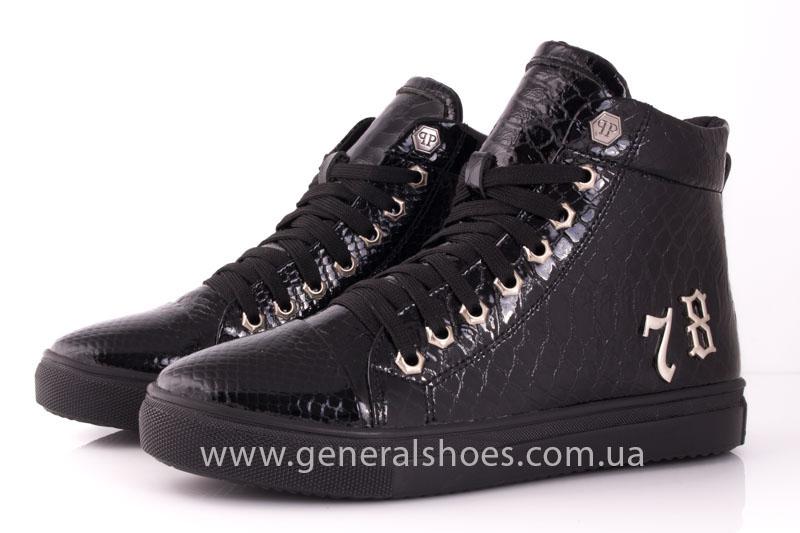Ботинки женские кожаные GL 8 черный фото 7