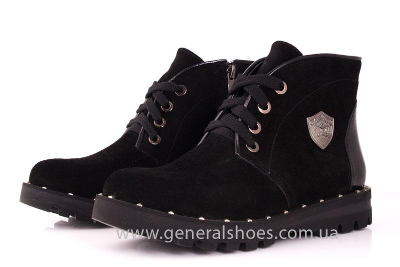 Ботинки женские замшевые К 12 321 черный фото 6