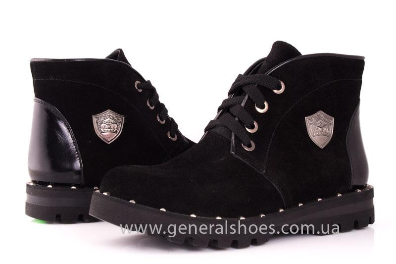 Ботинки женские замшевые К 12 321 черный фото 7