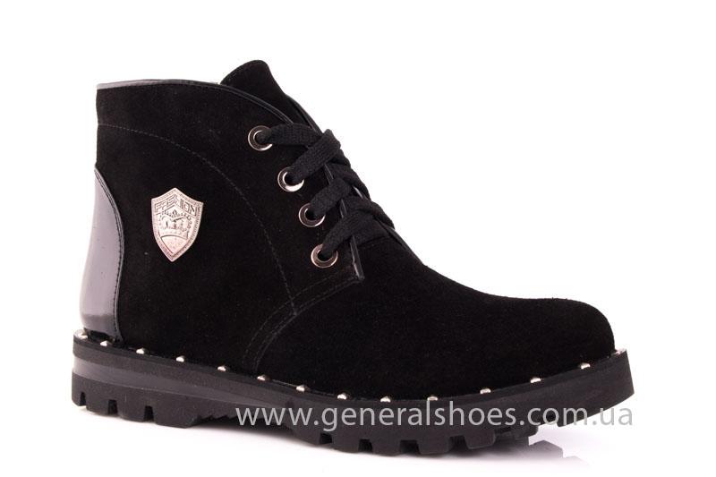 Ботинки женские замшевые К 12 321 черный фото 1