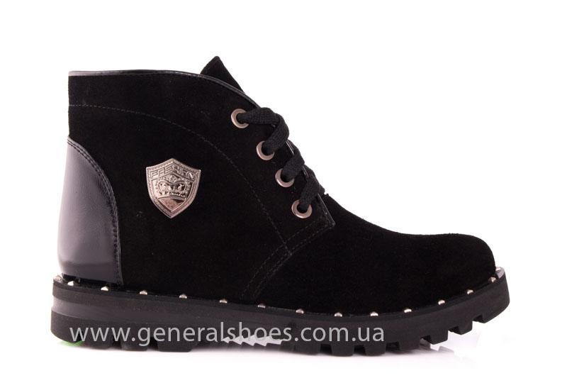 Ботинки женские замшевые К 12 321 черный фото 2