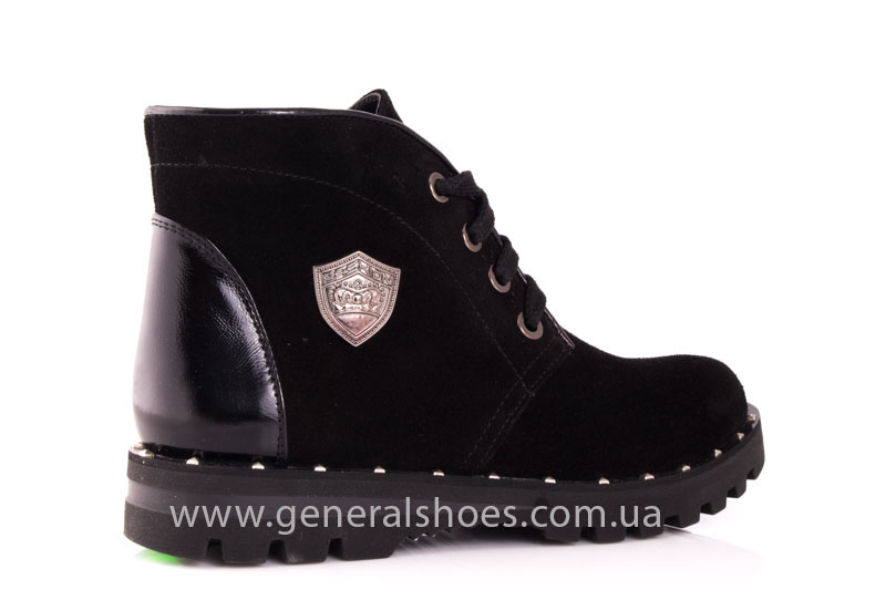 Ботинки женские замшевые К 12 321 черный фото 3