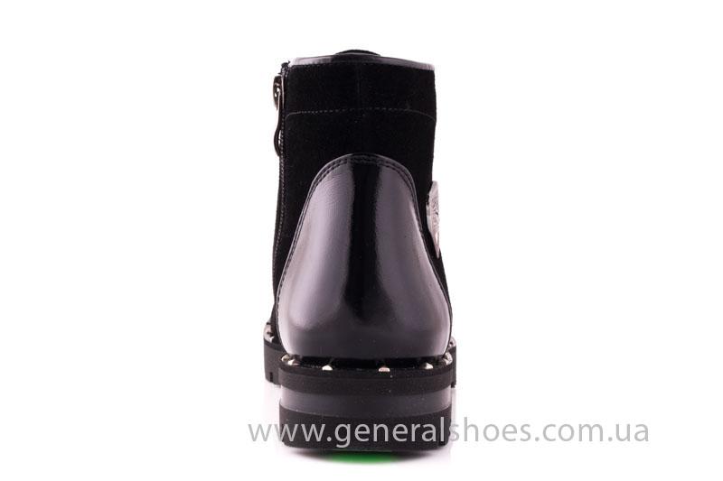 Ботинки женские замшевые К 12 321 черный фото 4