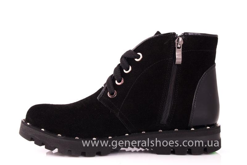 Ботинки женские замшевые К 12 321 черный фото 5