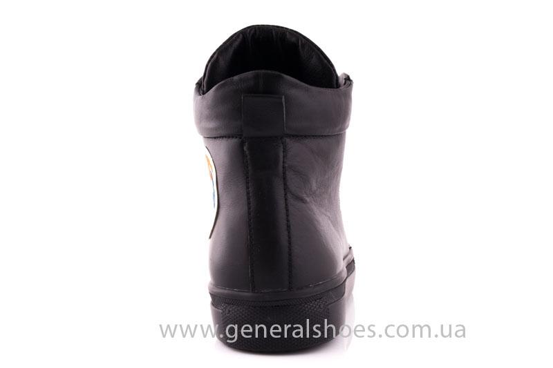 Кеды женские кожа GL 3 черный фото 4