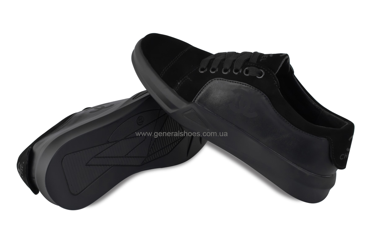 Кеды женские кожаные GL 14 черный фото 2