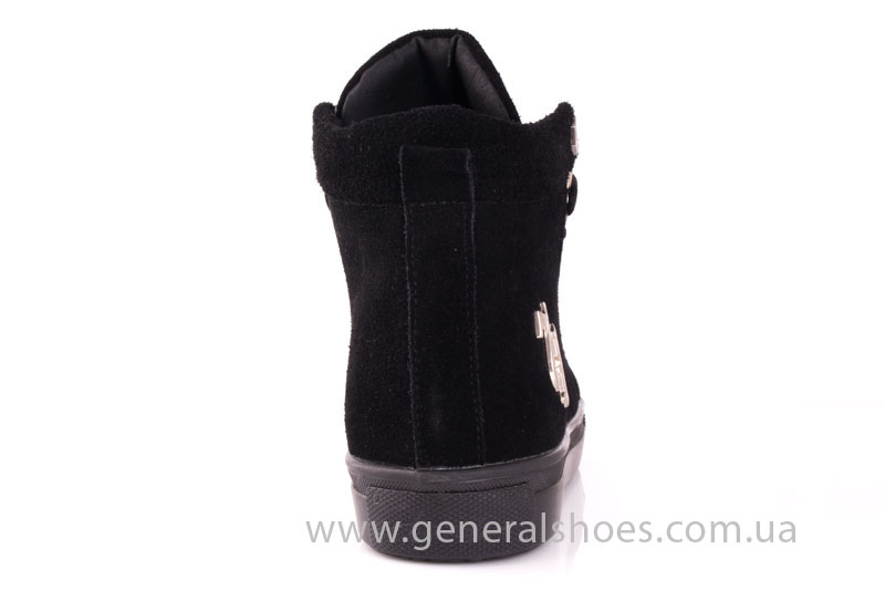 Кеды женские высокие GL 10 черный фото 4