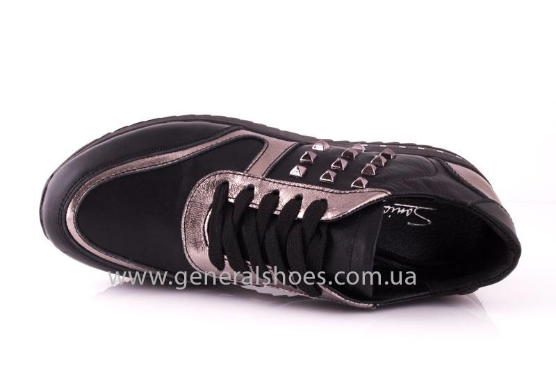 Кроссовки женские кожаные 0130 черный фото 6