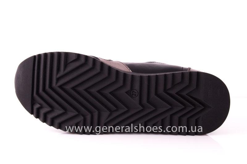 Кроссовки женские кожаные 0130 черный фото 10