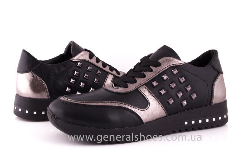 Кроссовки женские кожаные 0130 черный фото 8