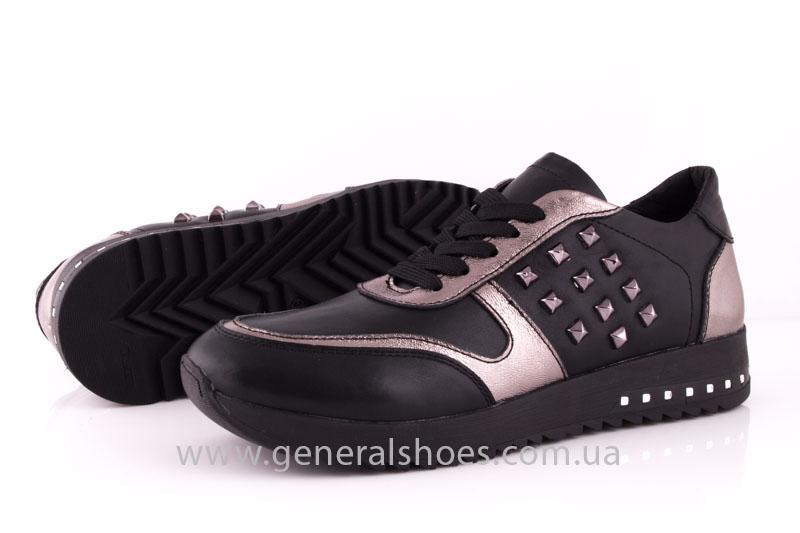 Кроссовки женские кожаные 0130 черный фото 9