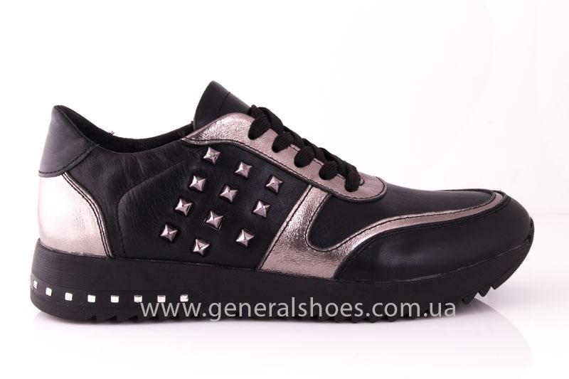 Кроссовки женские кожаные 0130 черный фото 2