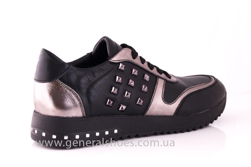 Кроссовки женские кожаные 0130 черный фото 3