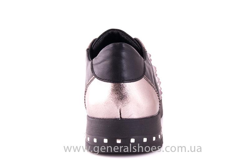 Кроссовки женские кожаные 0130 черный фото 4
