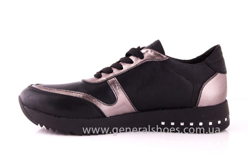 Кроссовки женские кожаные 0130 черный фото 5
