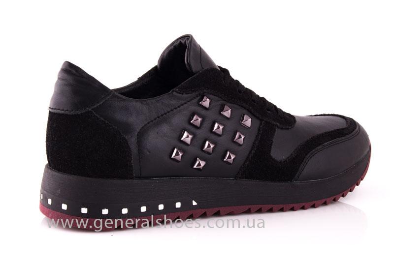 Кроссовки женские кожаные 0132 черный фото 3