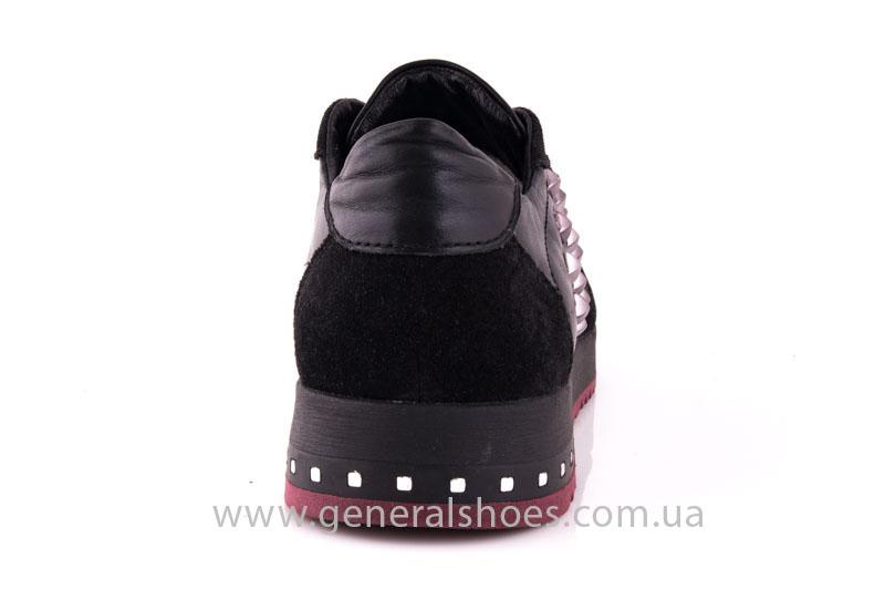 Кроссовки женские кожаные 0132 черный фото 4