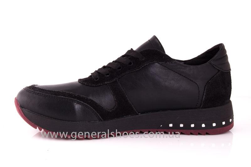 Кроссовки женские кожаные 0132 черный фото 5