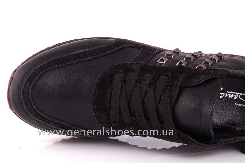 Кроссовки женские кожаные 0132 черный фото 6