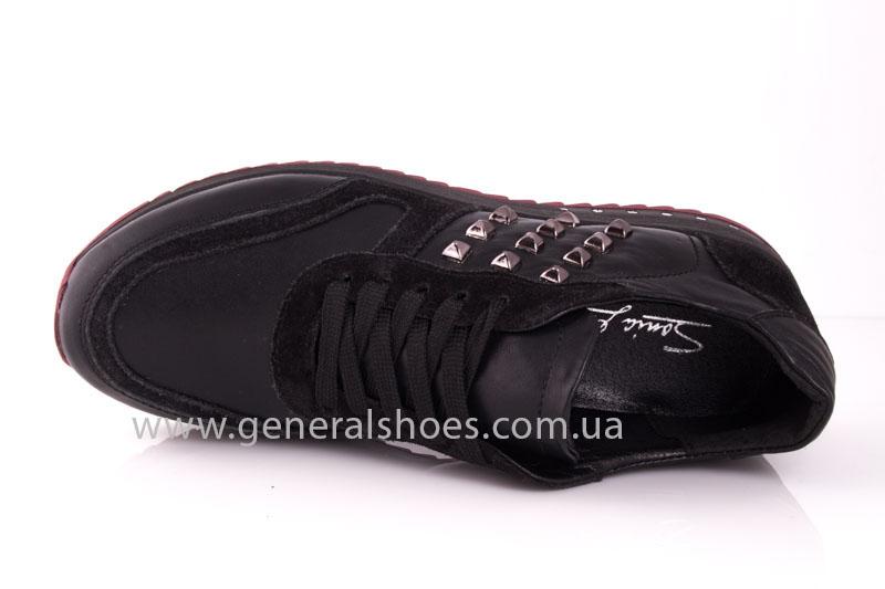 Кроссовки женские кожаные 0132 черный фото 7