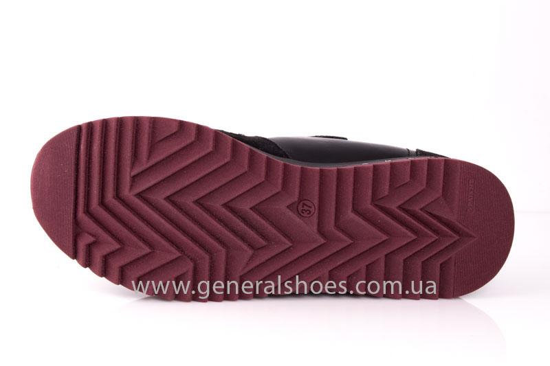 Кроссовки женские кожаные 0132 черный фото 8